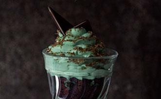 Le trifle brownie et menthe