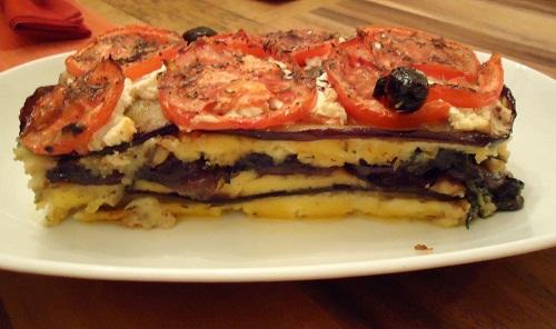 La fameuse recette des aubergines à la polenta